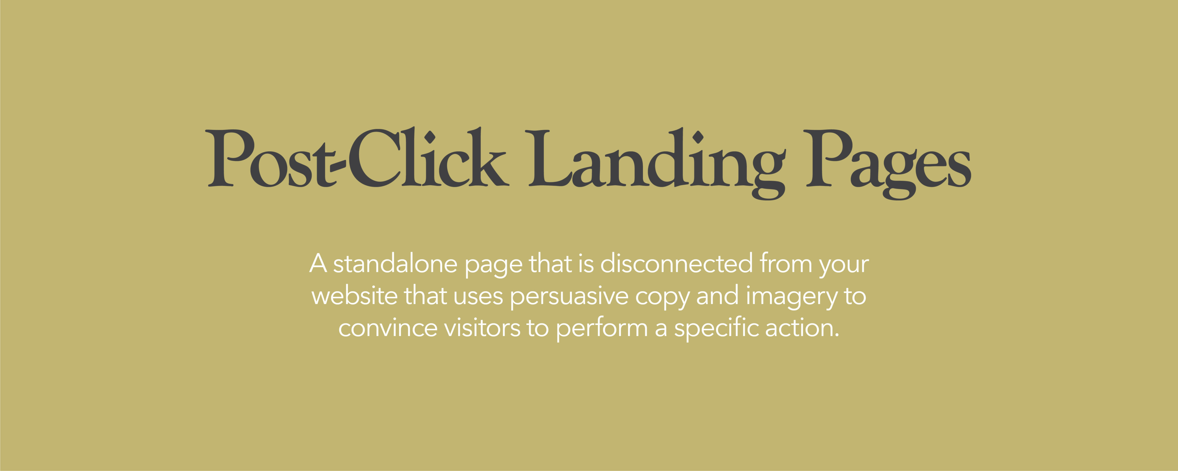 Post-Click Landing Pages
